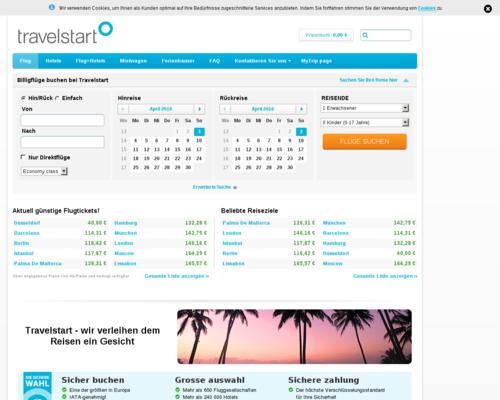 Travelstart Screenshot