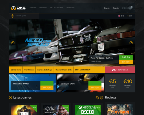OnlineKeyStore Screenshot