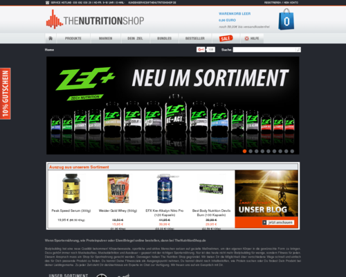 The Nutrition Shop Screenshot