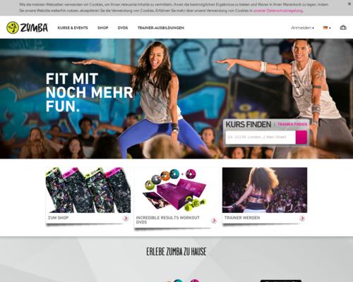 Zumba.com Screenshot