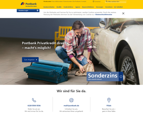 Postbank Screenshot