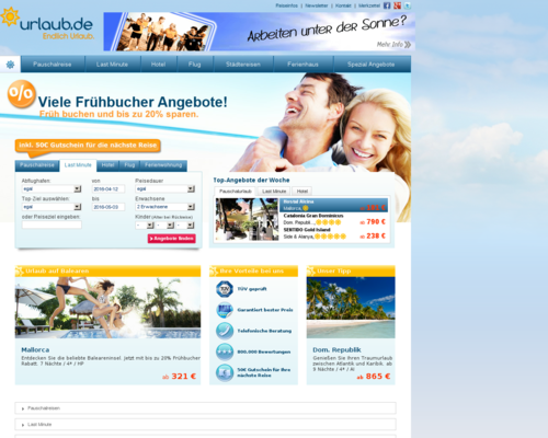 Urlaub.de Screenshot