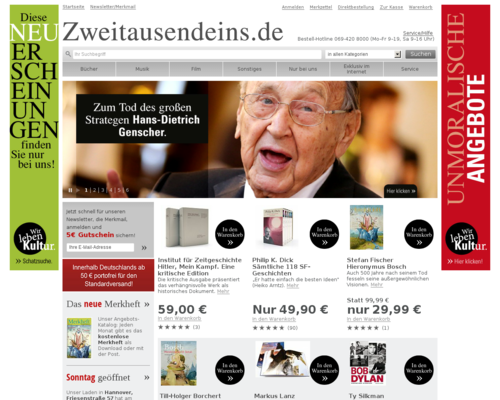 Zweitausendeins.de Screenshot