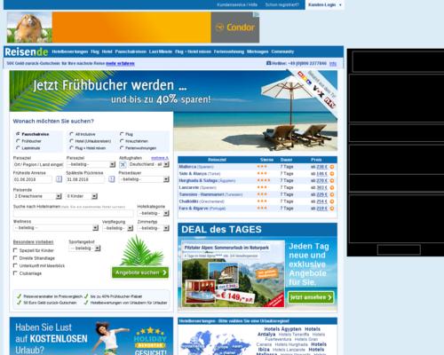 Reisen.de Screenshot