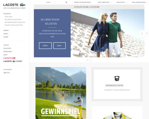 LACOSTE Screenshot