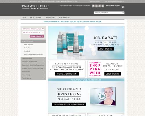 Paula's Choice Screenshot