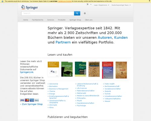 Springer Screenshot