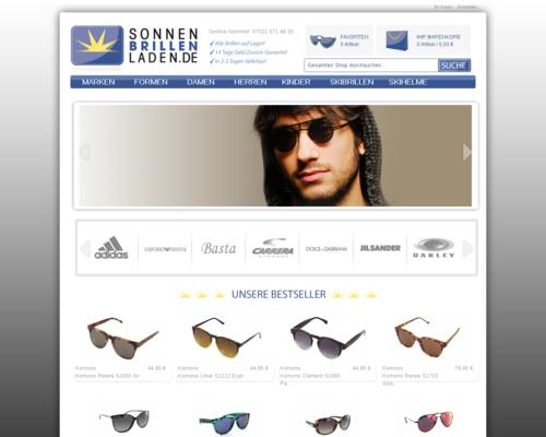 Sonnenbrillenladen Screenshot