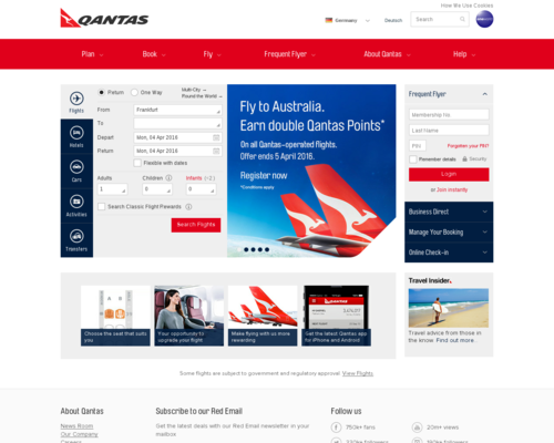 Qantas Screenshot