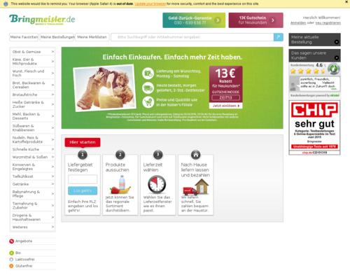 Bringmeister Screenshot