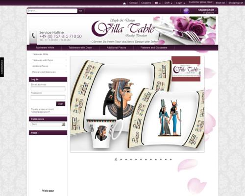 Villa Table Screenshot