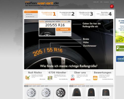 Reifen vor Ort Screenshot