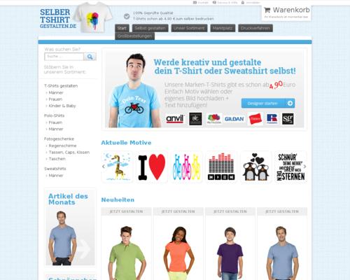 Tshirt-selber-gestalten Screenshot