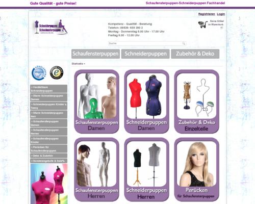 Schneiderpuppen Fachhandel Screenshot