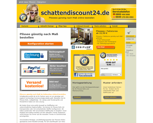 Schatten Discount 24 Screenshot