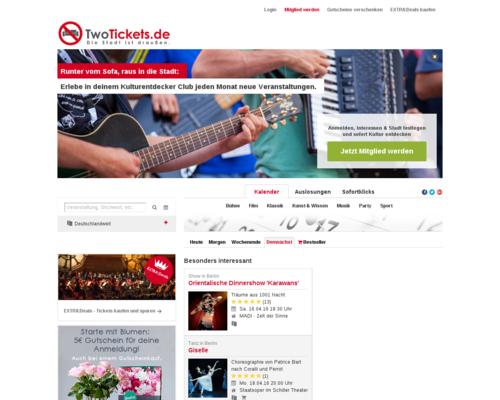 TwoTickets.de Screenshot