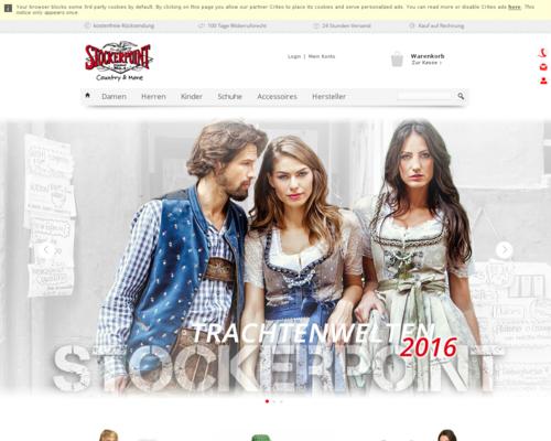 Trachten-Dirndl-Shop Screenshot