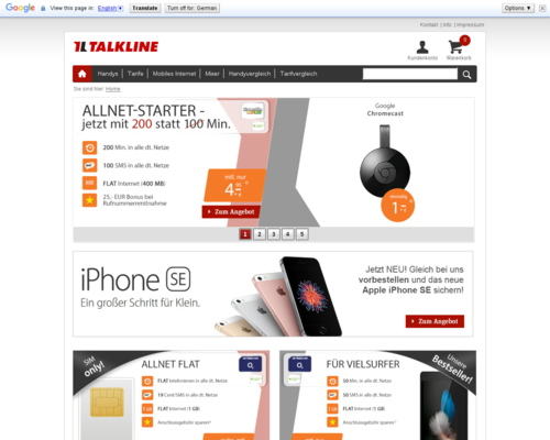 Talkline Screenshot