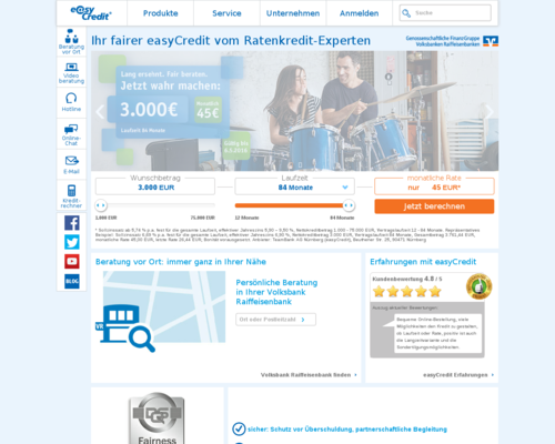 easyCredit Screenshot