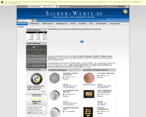 Silber-Werte Screenshot
