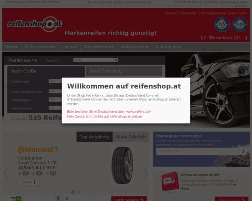 Reifenshop.at Screenshot