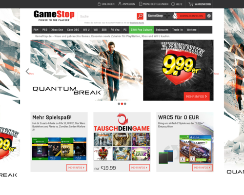 Gamestop Screenshot