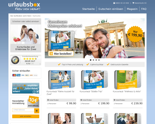 urlaubsbox Screenshot