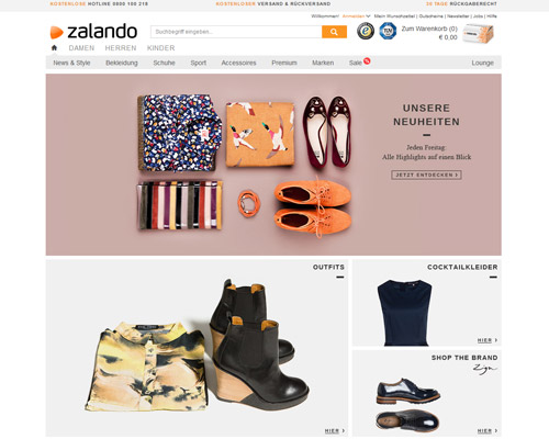 Zalando.at Screenshot
