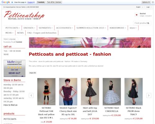 Petticoatshop Screenshot
