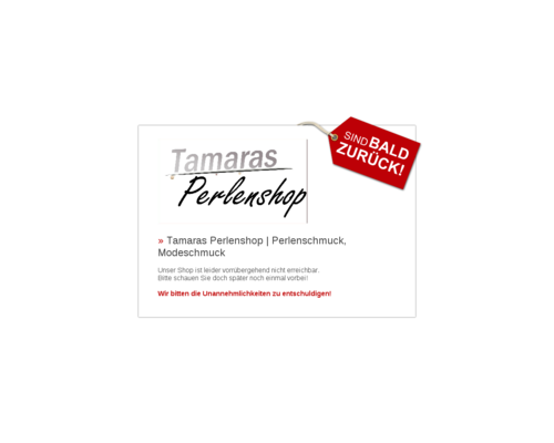 Tamaras Perlenshop Screenshot