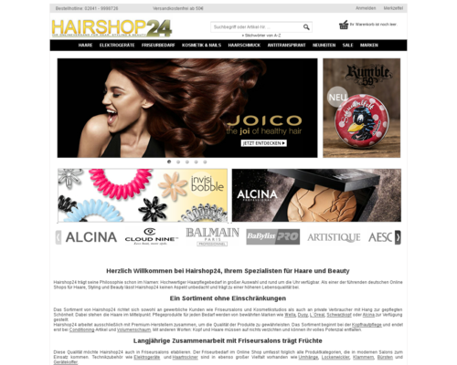 Hairshop24 Screenshot