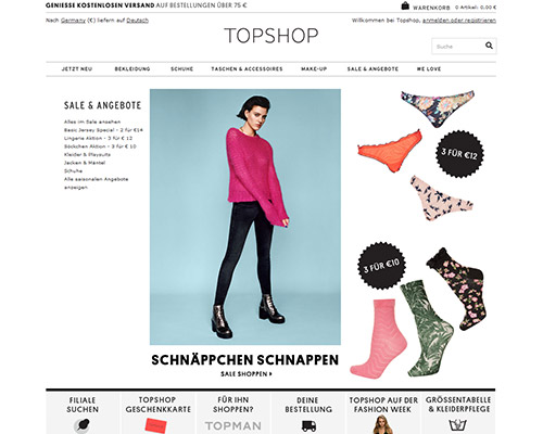 Topshop Screenshot