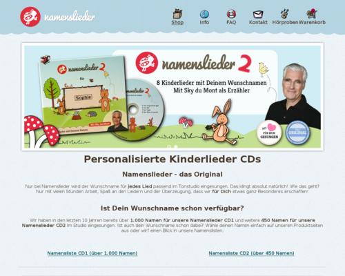 Namenslieder.de Screenshot