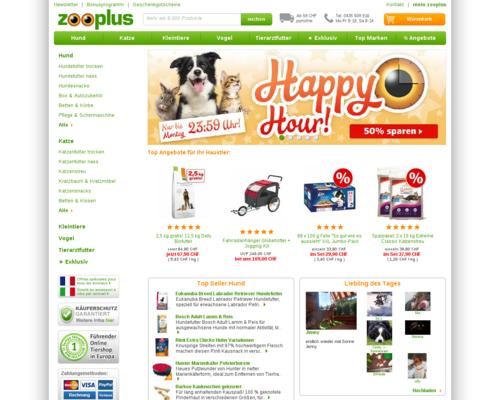 Zooplus CH Screenshot