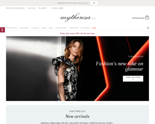 Mytheresa Screenshot