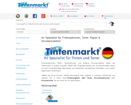 Tintenmarkt Screenshot