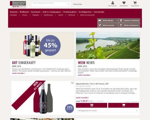 Rindchens Weinkontor Screenshot