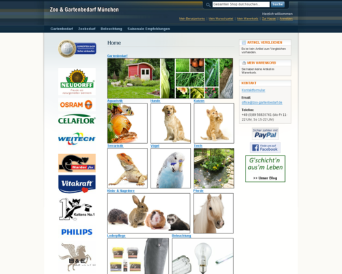 Zoo & Gartenbedarf Screenshot
