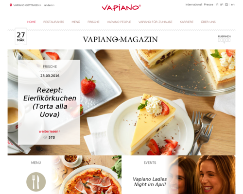 VAPIANO Screenshot