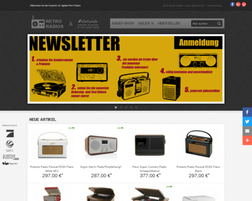 Retro Radios Screenshot