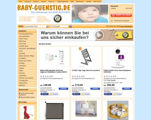 Baby-Guenstig Screenshot
