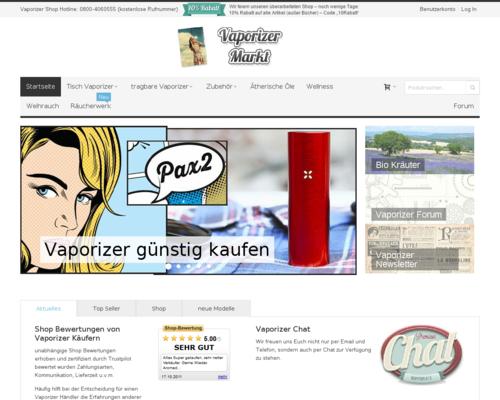 Vaporizer-Markt Screenshot