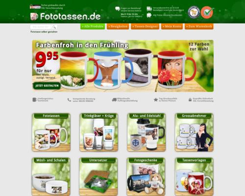 Fototassen.de Screenshot