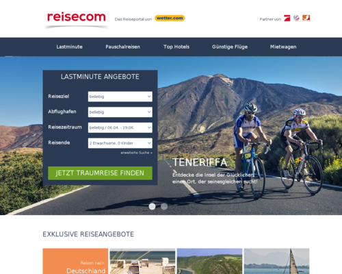 Reise.com Screenshot