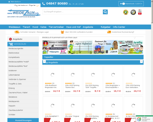 WeideZaun.info Screenshot