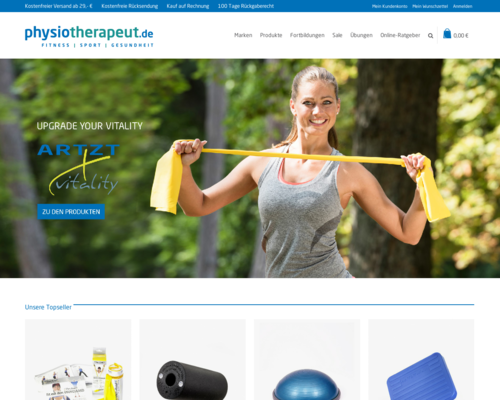Physiotherapeut.de Screenshot