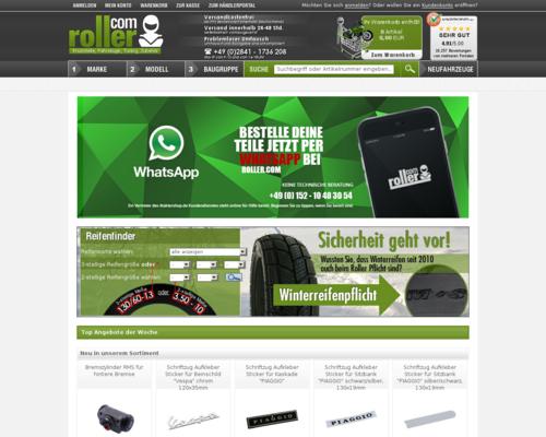 Roller.com Screenshot