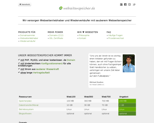 webseitenspeicher.de Screenshot