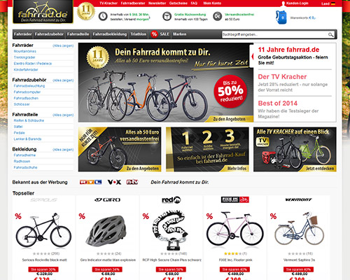 Fahrrad.de Screenshot