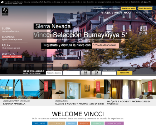 Vincci Hotels Screenshot